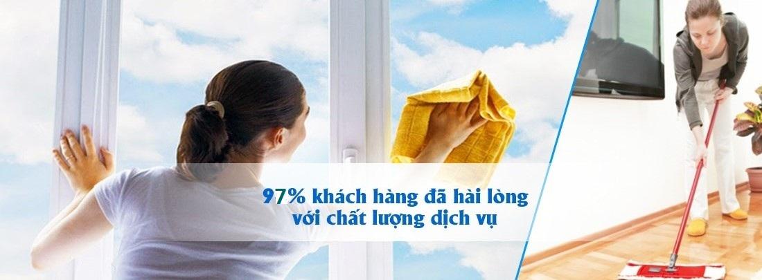 Dịch vụ vệ sinh công nghiệp làm hài lòng 97% khách hàng đã sử dụng
